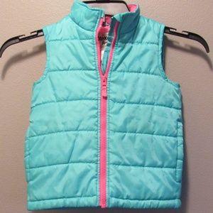 Oshkosh Turquoise Zip Girls Vest Size 5 Like New